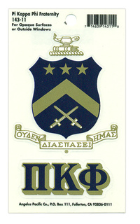 Pi Kappa Phi Crest - Shield Decal