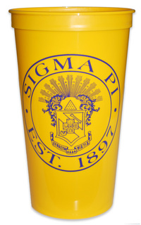 Sigma Pi Big Plastic Stadium Cup