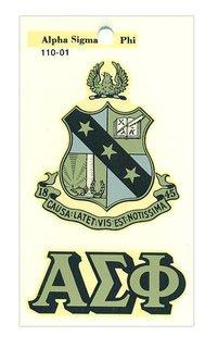 Alpha Sigma Phi Water Slide Decal