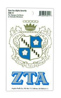 Zeta Tau Alpha Crest - Shield Decals