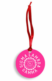 Sigma Lambda Gamma Christmas Crest - Shield Aluminum Ornament