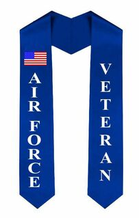 Air Force Graduation Sash Stole