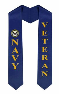 US Navy Graduation Sash Stole
