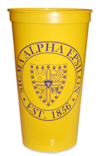 Sigma Alpha Epsilon Big Plastic Stadium Cup