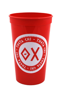 Set of 10 - Theta Chi Big Ancient Greek Letter Stadium Cup - Clearance!!!