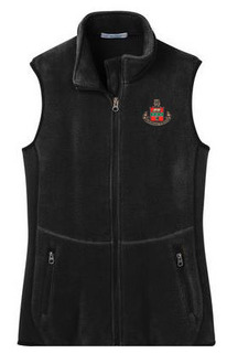 DISCOUNT-Alpha Chi Omega Crest - Shield Patch Ladies Pro Fleece Full-Zip Vest