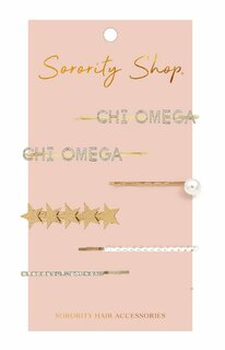 Chi Omega Hair Clips