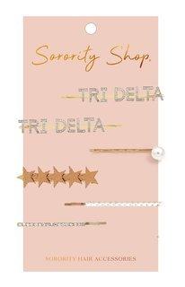 Delta Delta Delta Hair Clips