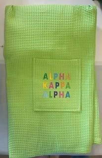 The New Super Savings - Alpha Kappa Alpha Rainbow Towel Wrap - GREEN