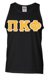 DISCOUNT- Pi Kappa Phi Lettered Tank Top