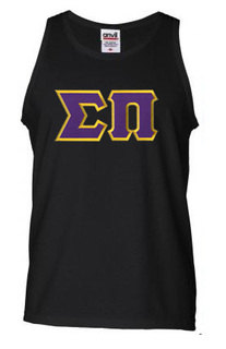 DISCOUNT- Sigma Pi Lettered Tank Top