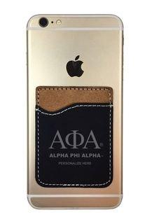 Alpha Phi Alpha Leatherette Phone Wallet