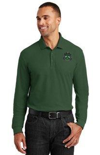 Delta Sigma Phi Emblem Long Sleeve Polo