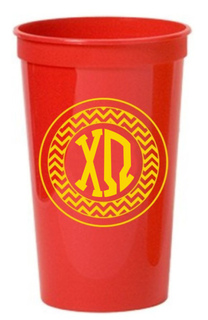 Chi Omega Monogrammed Giant Plastic Cup