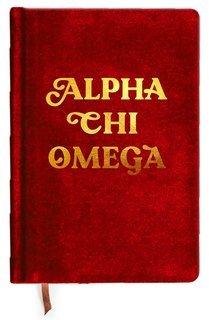Alpha Chi Omega Velvet Notebook