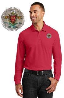 DISCOUNT-Pi Kappa Alpha Emblem Long Sleeve Polo