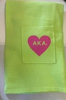 The New Super Savings - Alpha Kappa Alpha Heart Towel Wrap - GREEN