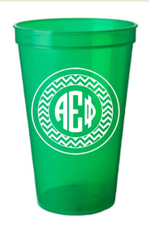 Alpha Epsilon Phi Monogrammed Giant Plastic Cup