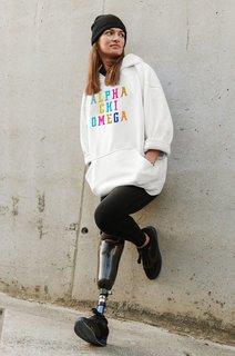 Alpha Chi Omega Vintage Rainbow Hoodie
