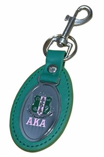 Alpha Kappa Alpha Green Oval Keychain