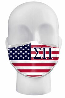 Fraternity USA Flag Face Masks