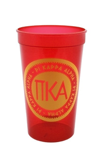 Set of 10 - Pi Kappa Alpha Big Ancient Greek Letter Stadium Cup - Clearance!!!