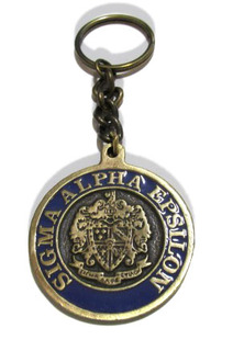 Sigma Alpha Epsilon Metal Fraternity Key Chain