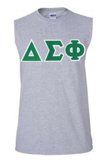 DISCOUNT- Delta Sigma Phi Lettered Sleeveless Tee