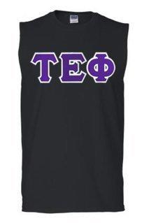 DISCOUNT- Tau Epsilon Phi Lettered Sleeveless Tee
