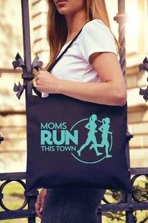 Moms Runs This Town Box Tote Bag