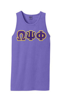 DISCOUNT- Omega Psi Phi Lettered Tank Top