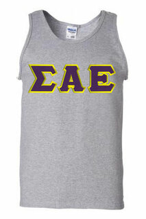 DISCOUNT- Sigma Alpha Epsilon Lettered Tank Top