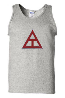 DISCOUNT- Triangle Fraternity Lettered Tank Top