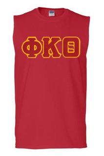 DISCOUNT- Fraternity Lettered Sleeveless Tee