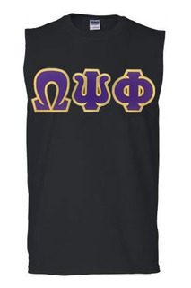 DISCOUNT- Omega Psi Phi Lettered Sleeveless Tee