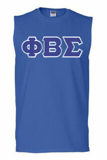 DISCOUNT- Phi Beta Sigma Lettered Sleeveless Tee