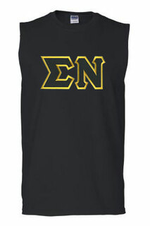 DISCOUNT- Sigma Nu Lettered Sleeveless Tee