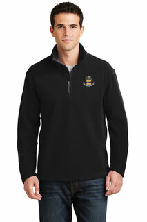 DISCOUNT-ACACIA Fraternity Crest - Shield Patch 1/4 Zip Pullover