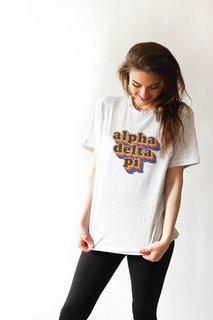 Alpha Delta Pi Retro Maya Comfort Colors Tee