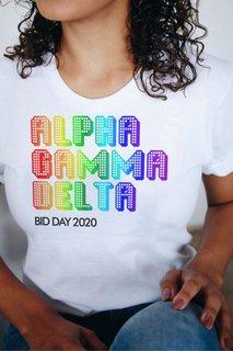 Alpha Gamma Delta Pixel Tee - Comfort Colors
