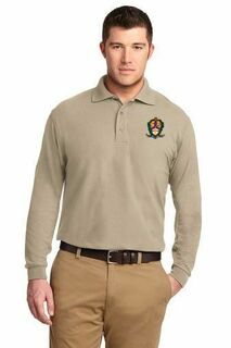 DISCOUNT-Alpha Kappa Lambda Emblem Long Sleeve Polo