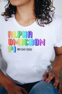 Alpha Omicron Pi Pixel Tee - Comfort Colors