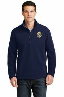 DISCOUNT-Alpha Phi Omega Crest - Shield Patch 1/4 Zip Pullover