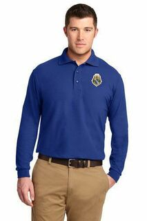 DISCOUNT-Alpha Phi Omega Patch Long Sleeve Polo