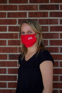 Alpha Sigma Alpha Applique Face Masks