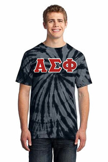 DISCOUNT-Alpha Sigma Phi Essential Tie-Dye Lettered Tee