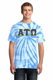 DISCOUNT-Alpha Tau Omega Essential Tie-Dye Lettered Tee