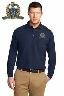 DISCOUNT-Delta Kappa Alpha Patch Long Sleeve Polo