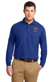 DISCOUNT-Delta Kappa Epsilon Emblem Long Sleeve Polo