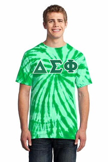 DISCOUNT-Delta Sigma Phi Essential Tie-Dye Lettered Tee